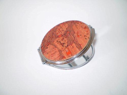 Kosmetické zrcátko s korkovou aplikací