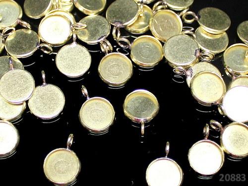 20883 Lůžko kulaté 16mm ZLATÉ, bal. 2ks