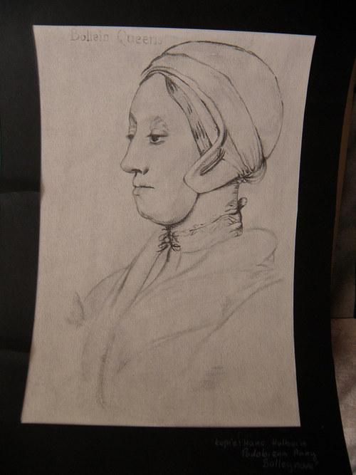 Kopie - Hans Holbein, Podobizna Anny Bolleynové