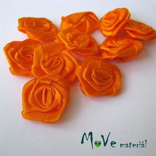 Růžička saténová oranžová Ø20mm, 10kusů