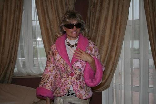 Zimní bunda do růžova