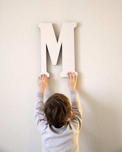 Kartónová písmena od A do Z vysoká 40cm