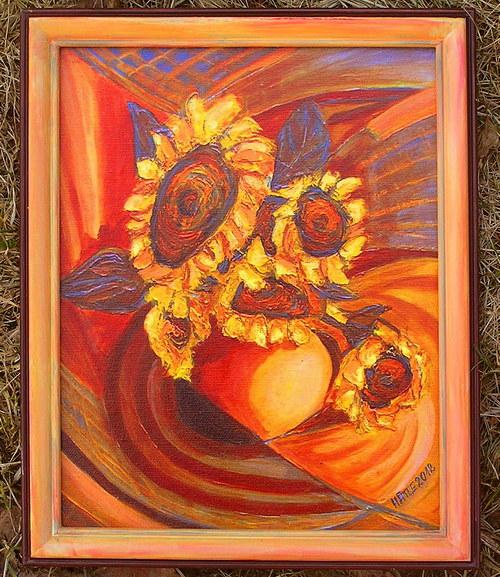 Obraz Slunečnice II (Zmenšenina)