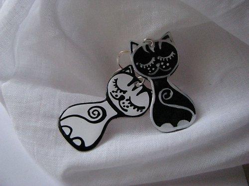 čierna mačka, biely kocúr