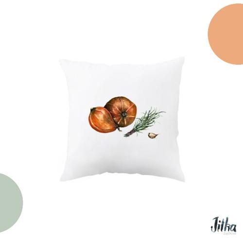 Dýně. Originální dekorační polštář s akvarelem.