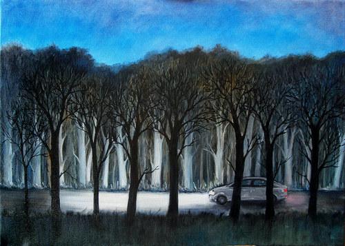 Obraz - Noční cesta