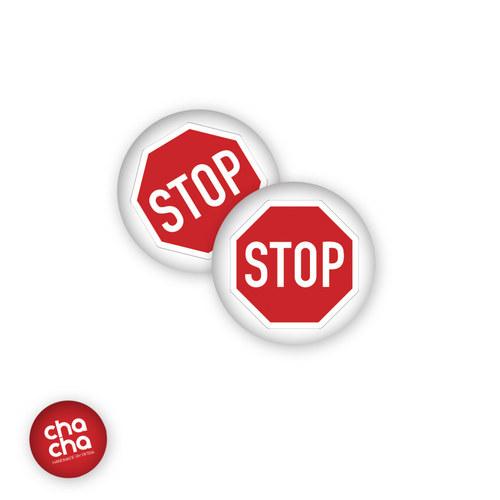 Stop! - náušnice pecky