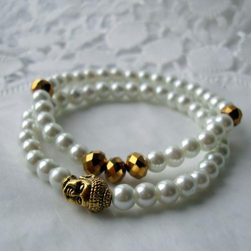 buddha - perličkový náramek 2 kusy