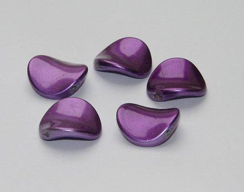 Akrylová prohnutá placka, fialová, 1ks