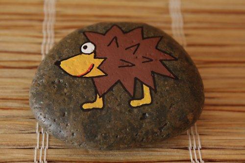 malovaný kámen - ježek
