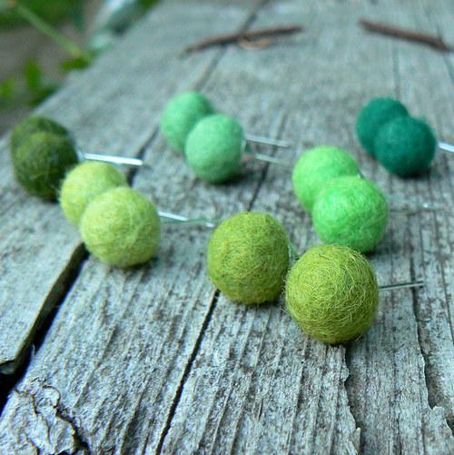 Puzetky v zelených tónech