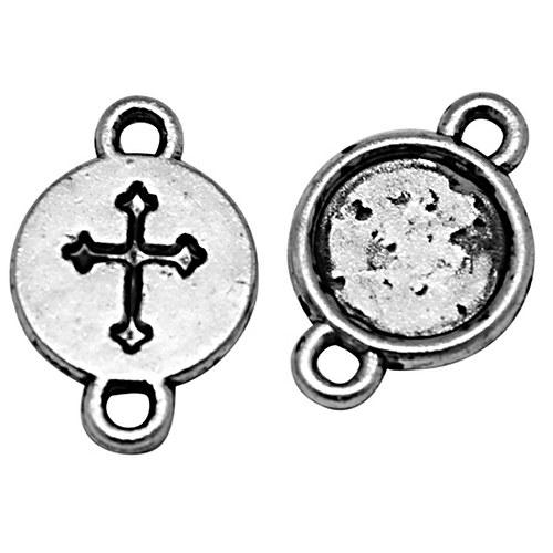 konektor (ramínko)/ ant.stříbro/ 16x10mm/ 10ks