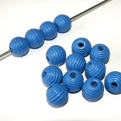 Dřevěné korálky vroubky kuličky 16 mm (cena 15ks)