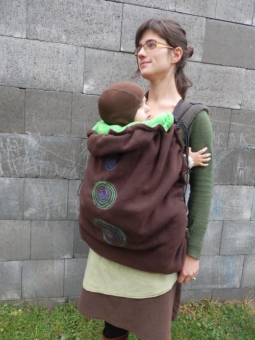 Teplá kapsa na šátek na nošení dětí - na přání 9