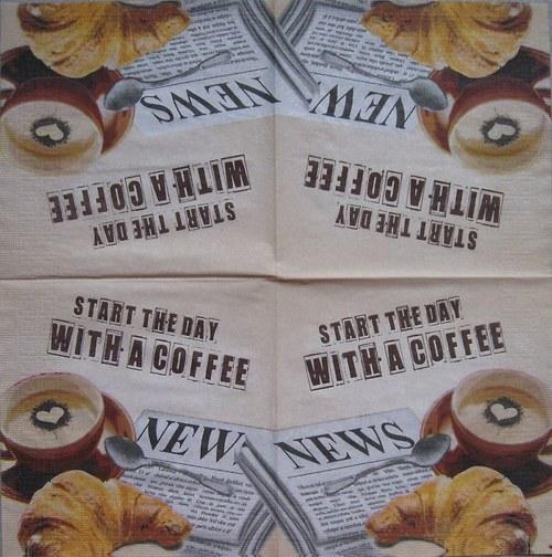 Ranní káva na béžové č. 1715