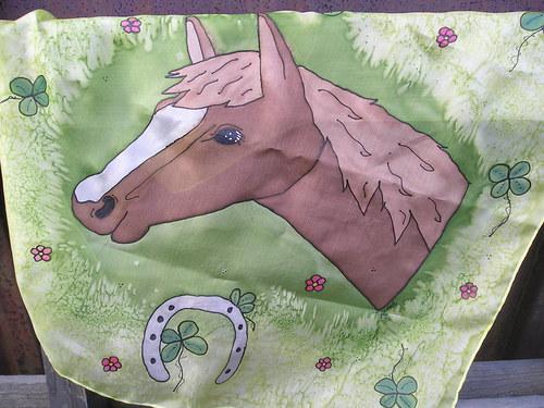 Koníkový hedvábný šáteček 55*55