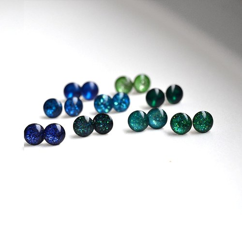Minipecky modré a zelené