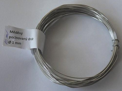 Měděný pocínovaný drát tl. 1 mm 10 m