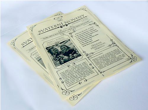 Svatební noviny (10 výtisků A4)