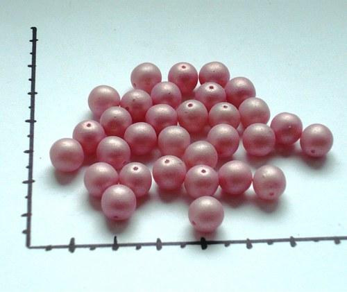 Perličky skleněné růžové, 20g