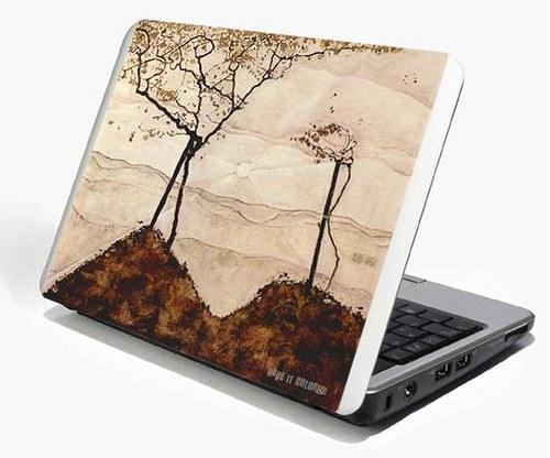 My Schiele- Autumn sun and trees