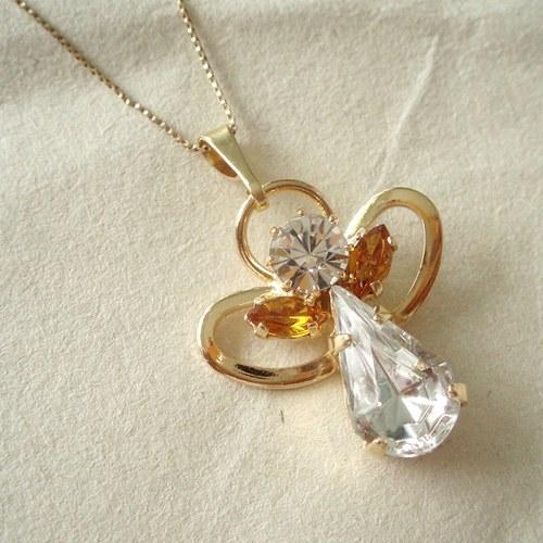 Zlatý měsíční andílek listopad - přívěsek