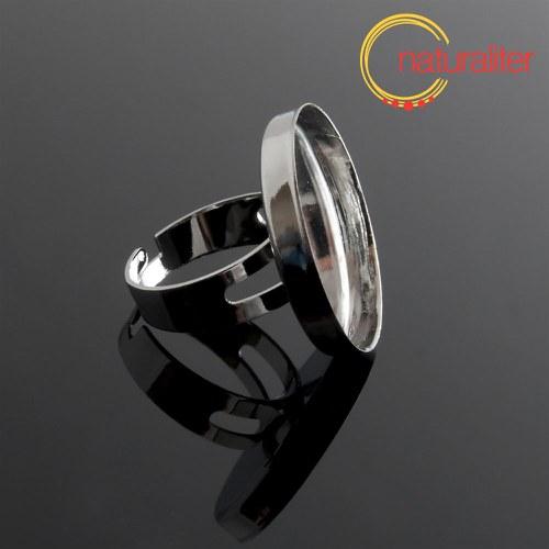 Základ na prsten s lůžkem 25mm platinová barva