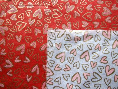Ruční morušový papír unryu A4 - červený