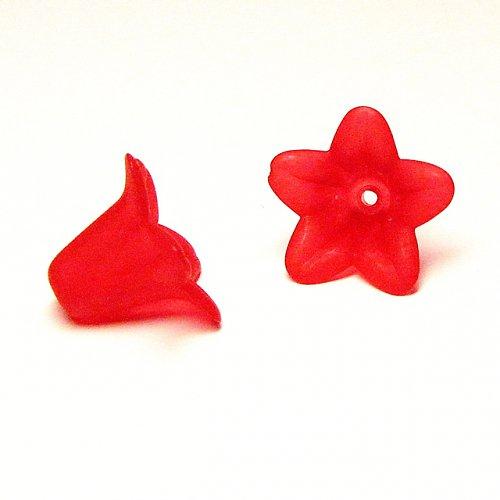 Velký červený zvonek, 2 ks 1,4/1,8 cm
