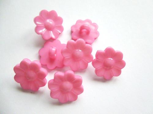 Knoflíčky kopretinky růžové 5ks