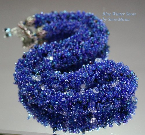 Náhrdelník - Blue Winter Snow