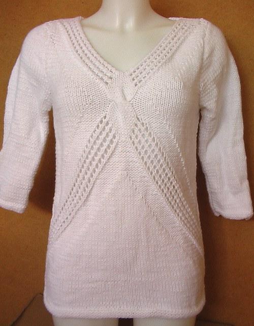 Bílý dámský svetr vel. 36 - 38