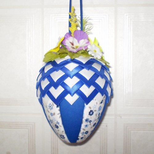 Artyčokové vajíčko - modro-bílé