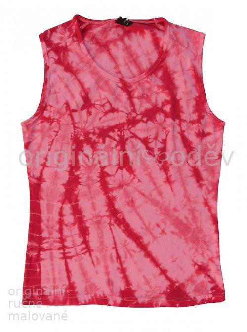 Batikované tílko dámské - růžové