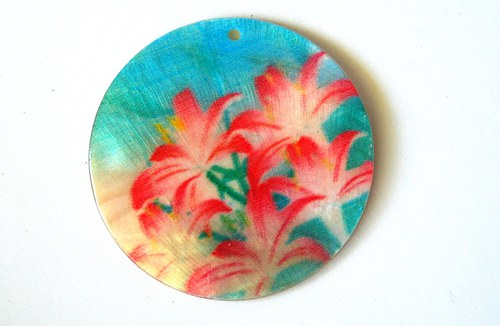 218 perleťové placky tenké- červené lilie