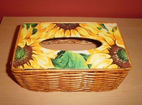 Poklop na kapesníky - slunečnice (na 200ks)
