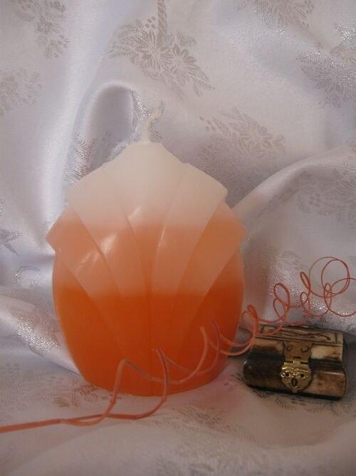 Svíčka oranžovobílá - pupen