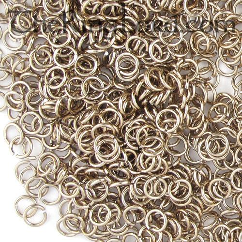 kroužky eloxovaný hliník 4/1,2 mm sv.hnědá 100ks