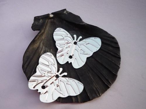 flitry motýl - stříbrný 30 ks