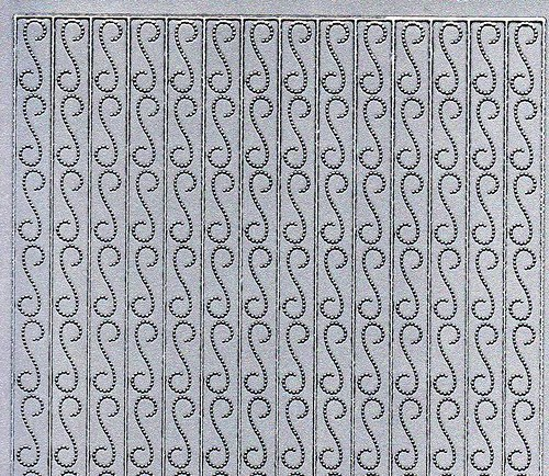 Samolepící kontury stříbrná bordura ozdobná
