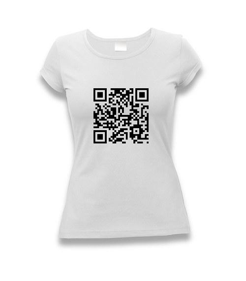 Vlastní QR kód - dámské tričko s potiskem