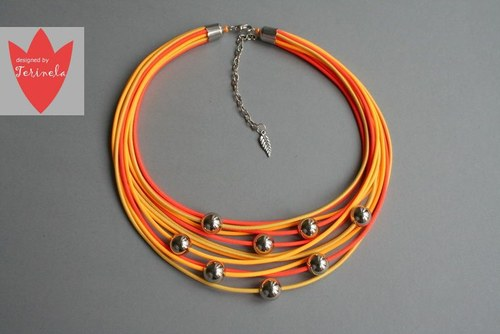 Náhrdelník Stříbřité světlo (C) design Terinela