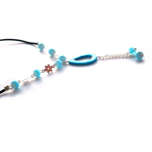 Delší tyrkysový náhrdelník - 20% sleva!!!