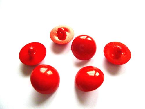 Knoflíčky pecičky červené 5 ks
