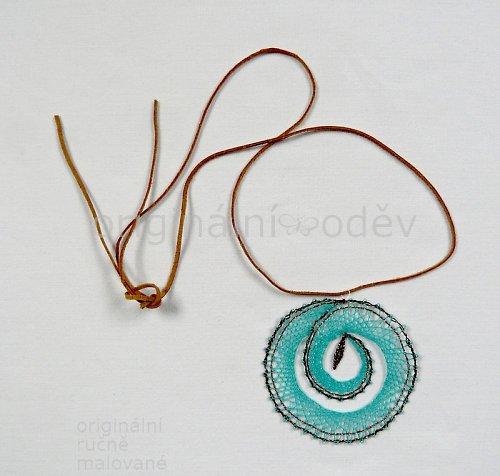 Paličkovaný náhrdelník - tyrkysové kruhy