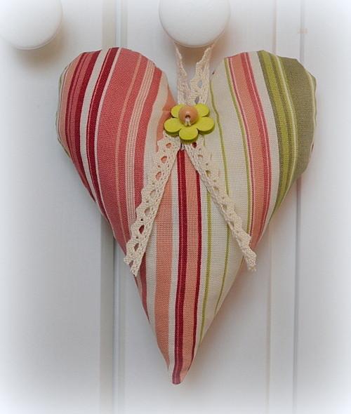 Srdce s proužky