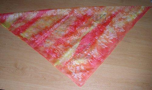 Šátek hedvábí romance pozdního léta zlatý list