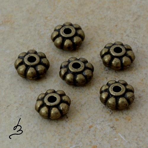 Korálek-mezikus 8 mm SZ - 4 ks