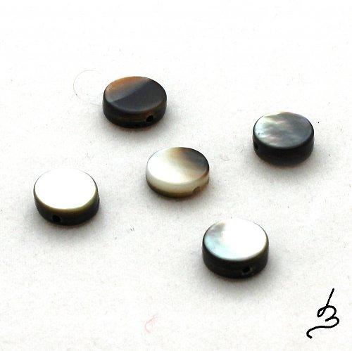 Perleťové placičky - 5 ks