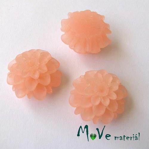 Kabošon květ transparent A5- resin - 2ks, sv.losos